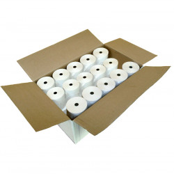 Caja de 30 Rollos de papel térmico 80x80 protegido de larga duración (+ de 5 años) para ticket y factura simplificada