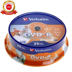 Tarrina 25 DVD-R Verbatim 4,7 GB 16x 120 min