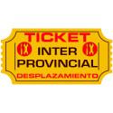 Ticket Kilómetros para desplazamiento Inter-Provincial