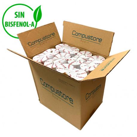Caja de 48 Rollos de papel térmico sin Bisfenol - A de 80x80 para ticket y factura simplificada
